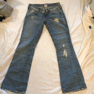 True religion flare leg jeans